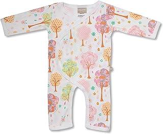 Babyushka Pink Tree Organic Long Sleeve Kimono Jumpsuit, Newborn (0000)