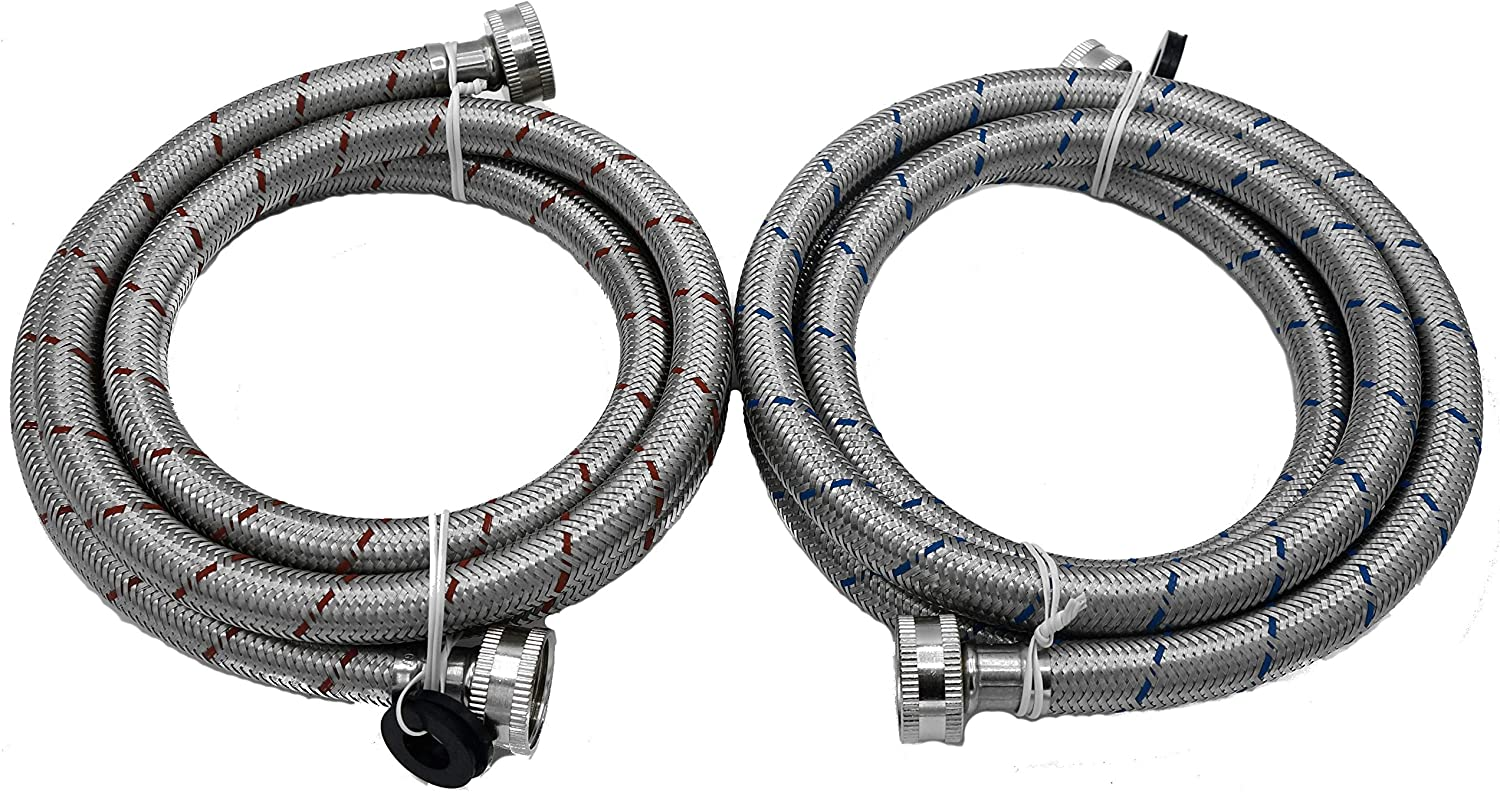 KILAUAN Washing Machine Hose Stainless Free shipping on posting reviews Braided Water Steel Suppl At the price