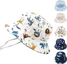 Baby Sun Hat Toddler Kids UPF 50+ UV Ray Sun Protection Wide Brim Bucket Swimwear Animal Hat