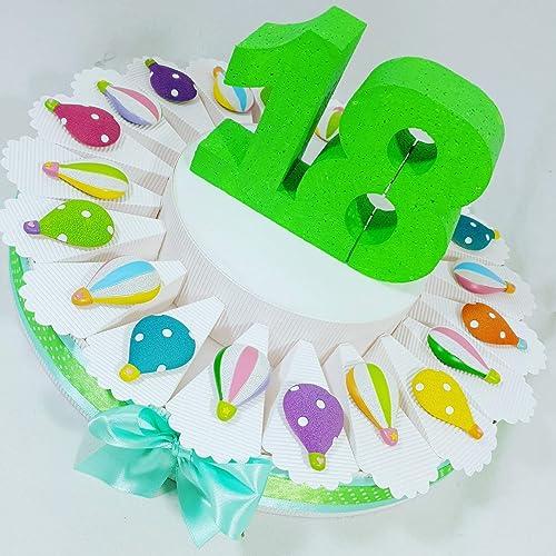alta calidad Tarta Decoración Globos llavero surtido surtido surtido 18años cumpleaños  connotación de lujo discreta