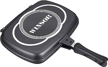 Winsor Cast Aluminum Non-Stick Double Frypan, 1 Piece - WR6021, Black