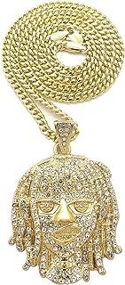 Esskeetit Pump Pendant with 24 Inch Long Cuban Necklace