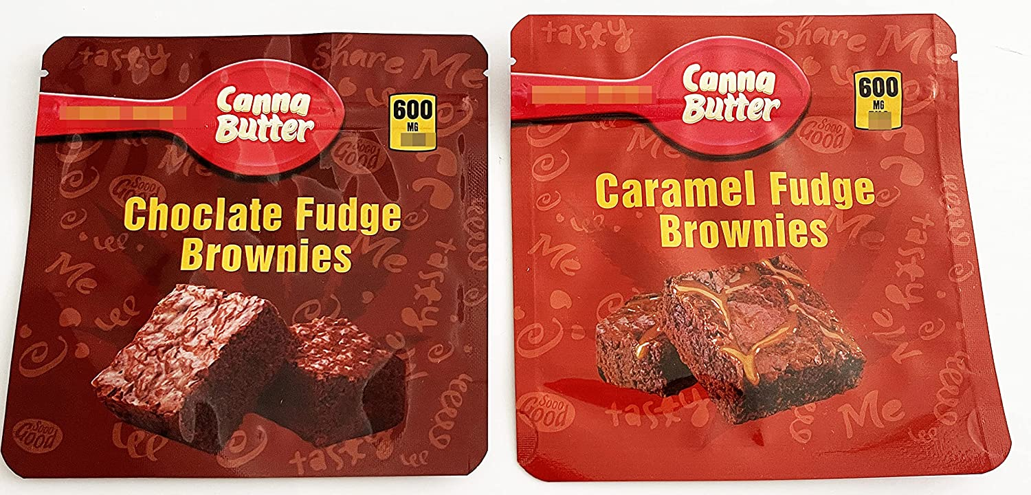 20 PCS Packaging Bags Canna Browni Luxury goods Fudge Choclate Butter Surprise price Caramel