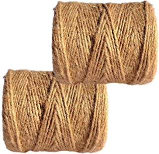 Jutegarn Juteschnur twine | 100% Jute Garn aus naturfarbener Faser | 2 x 100m 3-fach gezwirnt | Bindfaden | Gartenschnur | Paketschnur | umweltfreundlicher Bindfaden | natürliche Schnur - extra stark