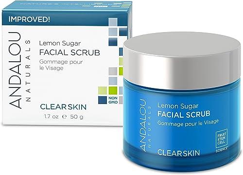 Andalou Naturals Lemon Sugar Facial Scrub, 1.7 Oz