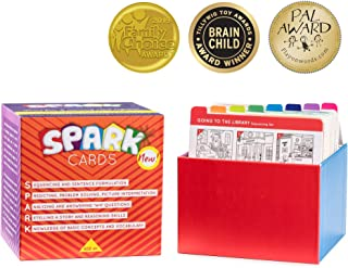 Spark Cards Sequencing Cards for Storytelling and Picture Interpretation Speech Therapy Game, Special Education Materials, Sentence Building, Problem Solving, Improve Language Skills