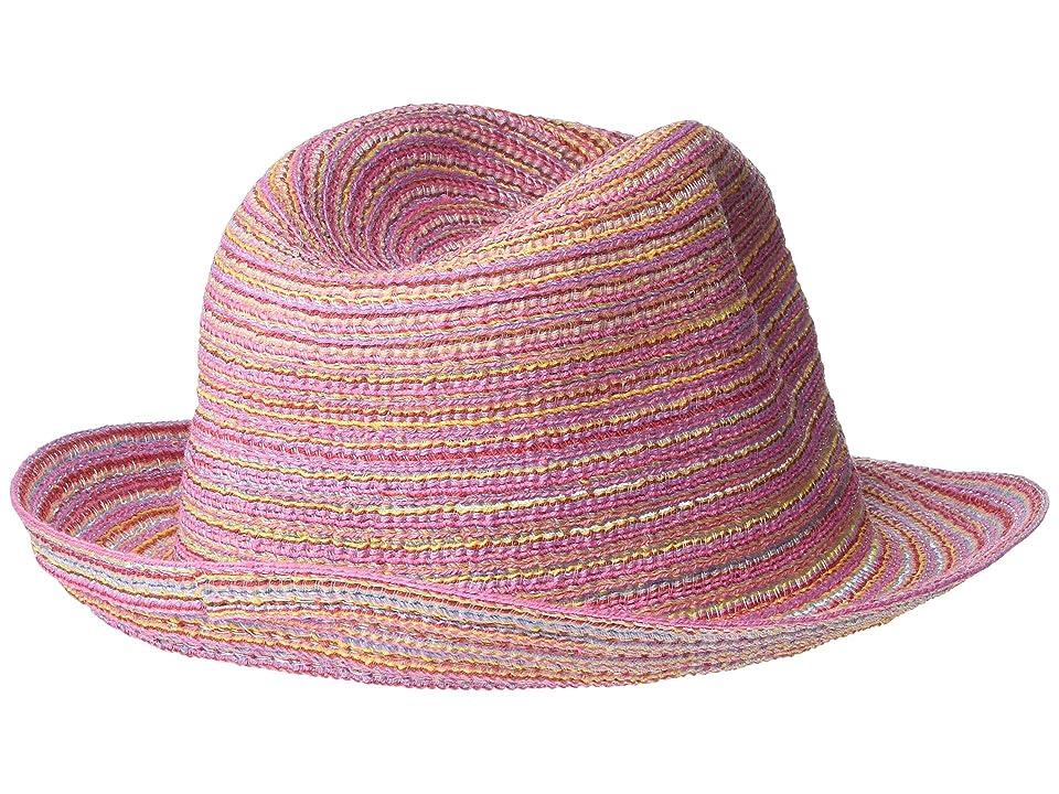 Appaman Kids Penny Fedora (Infant/Toddler/Little Kids/Big Kids) (Sunrise Stripe) Fedora Hats, Pink