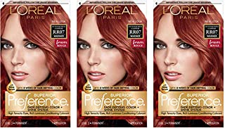 L'Oreal Superior Preference, RR07 Intense Red Copper (Warmer) 1 ea (Pack of 3)