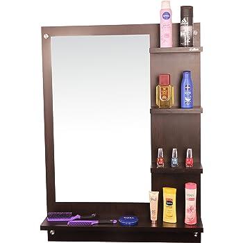 Anikaa Wood Wall Mirror (Wenge_64 X 13 X 90 Cm)