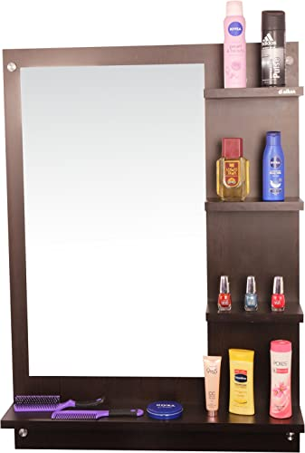 Anikaa Mavis Dressing Wall Mirror with Shelves/ Wall Hanging Dressing Mirrors with Shelf for Living Room Bedroom / Wa...