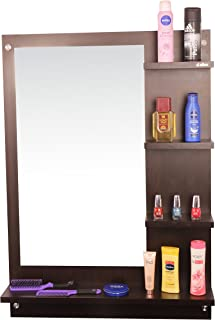 Anikaa Wood Wall Mirror (64 x 13 x 90 cm, Wenge)