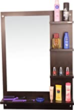 Anikaa Mavis Dressing Table/Wall Mirror  with Shelves (Wenge)