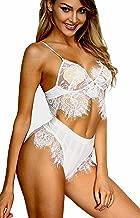 Babydoll Bralette Underwear,vidoyn Women's Sexy Lingerie Half Cups Sleepwear Nightwear G-String Lace Dress