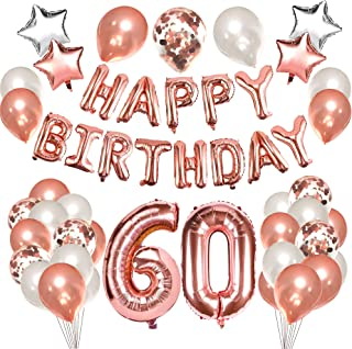 Grier 60th Birthday Balloons Decorations,60 Birthday Party Supplies for Women
