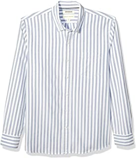 Marca Amazon - Goodthreads Standard-fit Long-sleeve Solid Oxford Shirt With Pocket - button-down-shirts Hombre