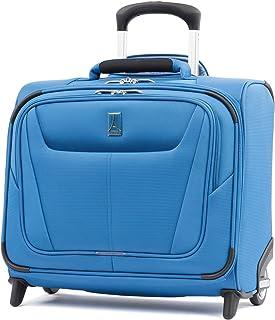 Travelpro Maxlite 5 Softside Lightweight Underseat Rolling Tote Bag, Azure Blue, 16-Inch