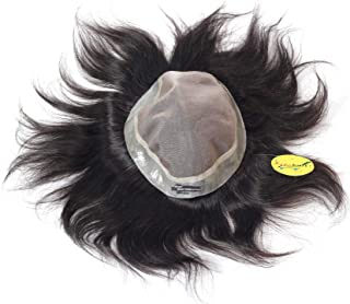 RITZKART 8x6 PU AUSTRALIAN MONO BASE 100% HUMAN HAIR PATCH MEN TOUPEE NATURAL BASELINE CLARITY SPL HAIR PATCH