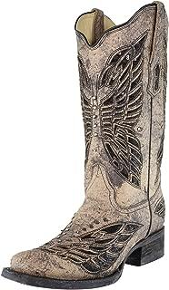 corral black bone inlay boots