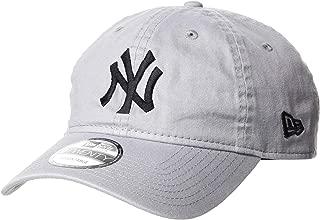 (ニューエラ)NEW ERA 9TWENTY Cloth Strap Washed Cotton ニューヨーク・ヤンキース グレー × ブラック キャップ One Size