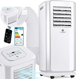 KESSER - Klimaanlage Mobiles Klimagerät 4in1 kühlen, Luftentfeuchter, lüften, Ventilator - 7000 BTU/h 2.000 Watt - Klima mit Montagematerial, Fernbedienung und 24h Timer, Nachtmodus EEK: A Weiß