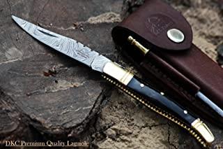 DKC Knives Sale (40 5/18) DKC-62-BL Black Prince Laguiole Damascus Steel Folding Pocket Knife 4