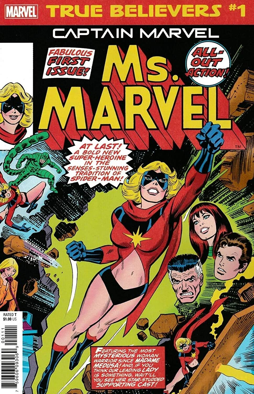 Amazon.com True Believers Captain Marvel Ms Marvel 20 VF/NM ...