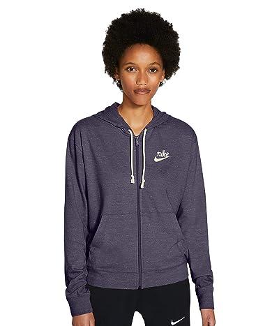 Nike NSW Gym Vintage Hoodie Full Zip (Dark Raisin/Sail) Women