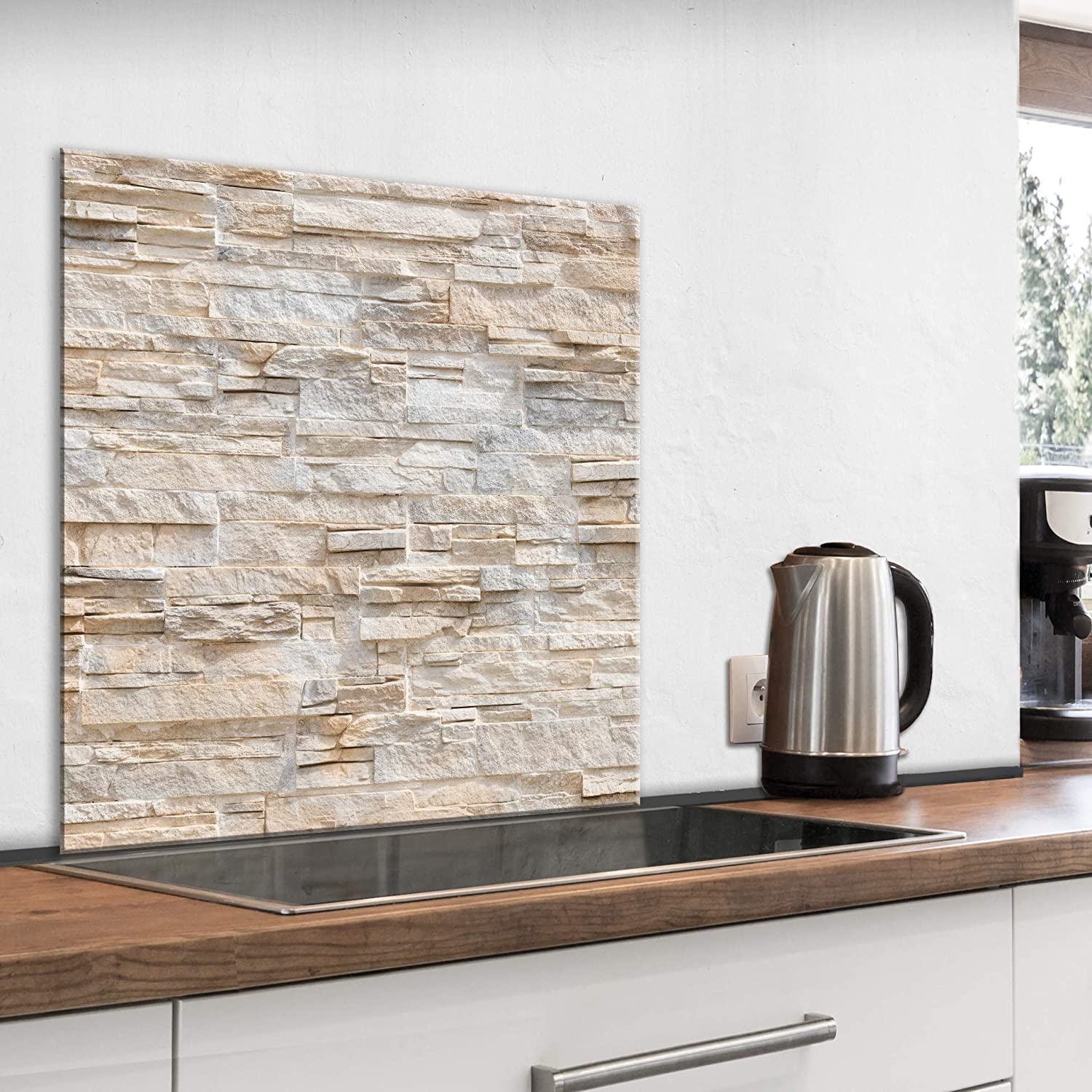 Clear Toughened Heat Resistant Glass Splashback No Holes Pre-Drilled Holes /& Fixings 10cm x 10cm Sample