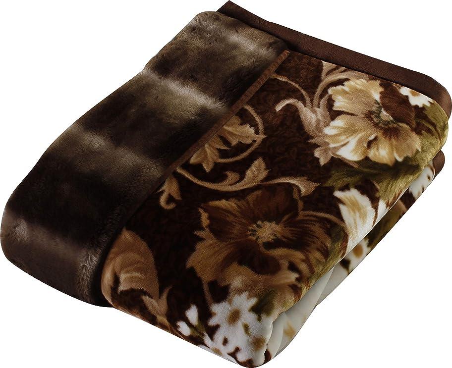 のホスト感謝保持西川(Nishikawa) 毛布 ベージュ シングル 140×200㎝ 日本製 2枚合わせ 洗える アクリル 静電気帯電抑制素材 2K2602