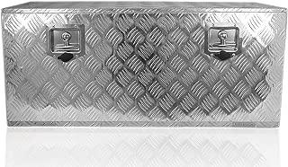 POINSETTIA Aluminum Tool Box Trailer Storage for Truck W Lock 91.1x45.4x40cm, Silver