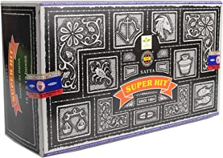 Satya Encens Satya Super Hit 12 boîtes Parfum Nag Champa Bâtonnets d'encens Indiens