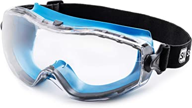 SolidWork Safety Goggles with Universal Fit | Eye Protective Safety Glasses for Construction Work | Scratch Resistant Gogg...