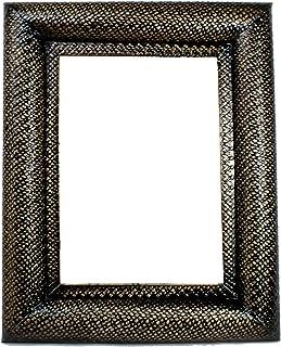Espejo de lamina martillada con diseño de piel de serpiente Color cobrizado, Tamaño 40x50. Hecho en México por Artesanos M...