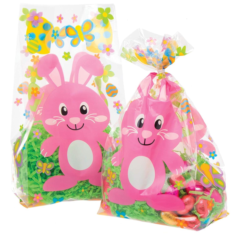 Baker Ross AT512 Bolsas Celofán Conejito de Pascua para fiestas infantiles, caza de huevos y bolsas de regalo (paquete de 30)