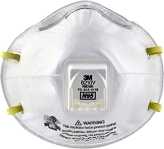 3M Particulate Respirator 8210V, N95 Respiratory Protection (20 Respirator)