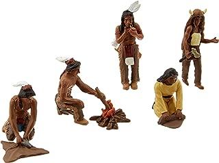 Woodland Scenics SP4443 1.5-Inch Scene Setters Figurine, Native Americans, 5/Pack