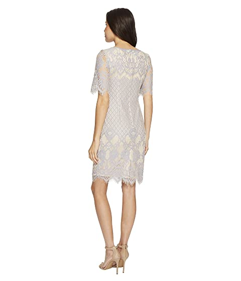 Adrianna Papell Bell Sleeve Georgia Lace Sheath Sky/Cadmium Big Discount Cheap Online WAKFh7sfh