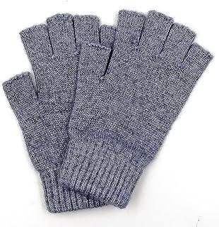 Mongolian Pure Wool Women Mens Half Fingers Mid Fingerless Gloves Mittens