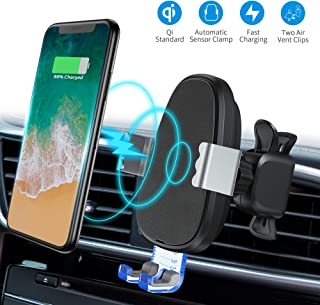Wireless Car Charger Mount,BESWILL Wireless Phone Mount 10W/7.5W Qi Fast Charging Automatic Clamping Air Vent Phone Holder Support iPhone Xs/XS Max/XR/X/8/8p, Samsung Galaxy S10/S9/S8/S8+