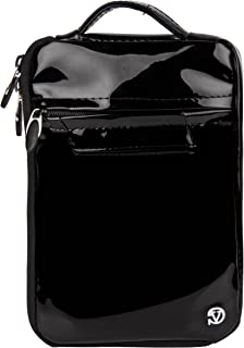 Vangoddy Hydei Patent Leather Bag Sleeve Carrying Case for Visual Land Prestige Elite Pro 8Q, Pro 8D 8 inch Tablets (Black)
