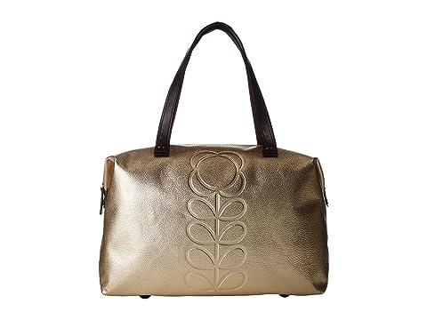 flor con de Light cuero cremallera Tallo en con Shopper Kiely Orla relieve Gold wA1xEgSZq