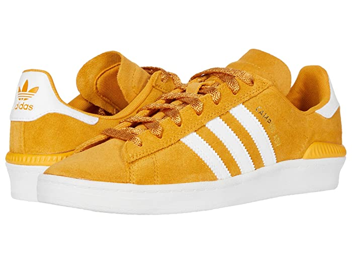 Mens Vintage Shoes, Boots | Retro Shoes & Boots adidas Skateboarding Campus ADV Tactile Yellow F17Footwear WhiteGold Metallic Skate Shoes $80.00 AT vintagedancer.com