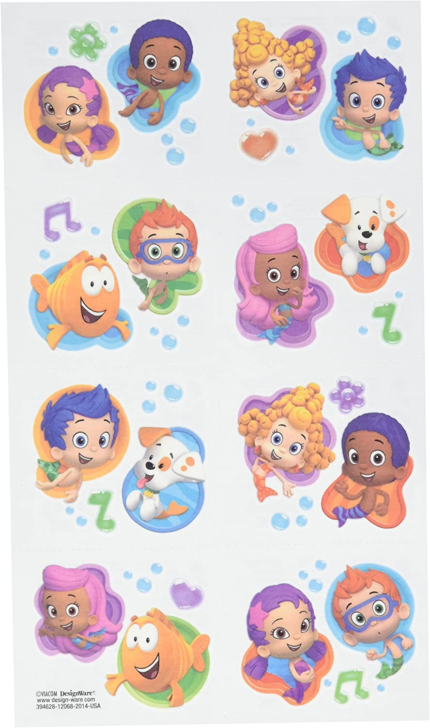Aqua Awesome Max 45% OFF Bubble Guppies Party Temporary Max 60% OFF Tattoo Favours Pape