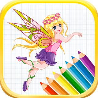 Coloring Book Fairy For Girls