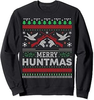 Duck Hunting Funny Merry Huntmas Ugly Christmas Sweatshirt
