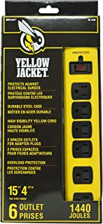 Yellow Jacket 5138N 5138 Metal Surge Protector Strip with 6 Outlets and 15 Foot Cord