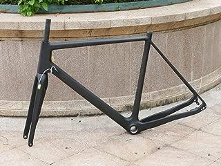 vgocycling Full Carbon Toray Matt Cyclocross Bike Frameset Disc Brake BB30 Frame 56cm 12 142mm Thru Axle + Bicycle Fork 15 100mm Thru Axle