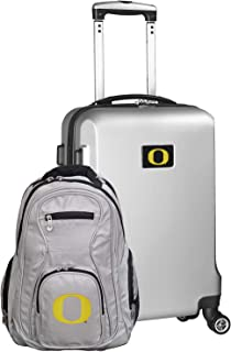 NCAA Deluxe 2-Piece Backpack & Carry-On Set, Silver