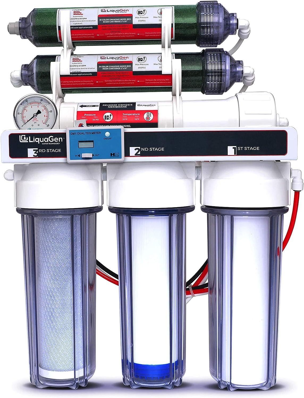 Very popular! LiquaGen - 6 Cheap super special price Stage Reverse Osmosis Deionization RO DI Water +