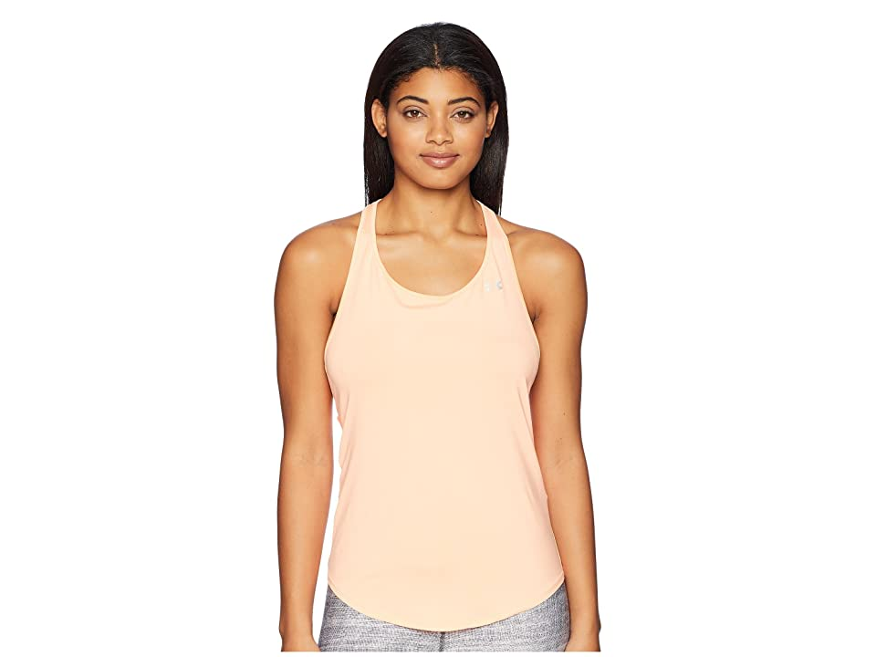 Under Armour HeatGear(r) Armour Mesh Back Tank Top (Peach Horizon/Metallic Silver) Women